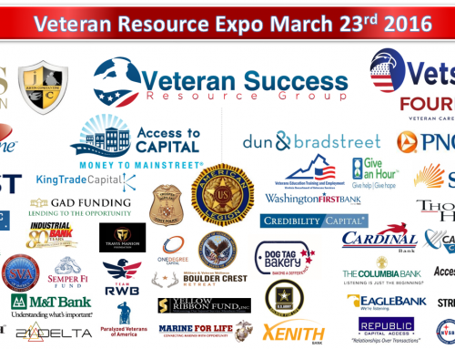 Access to Capital Matchmaking and Industry Round Table Sessions Online Registration Now Open for the Veteran Resource Expo March 23rd 2016.