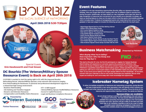 DC Bourbiz (The Veteran/Military Spouse Resource Event) is Back on April 26th 2018
