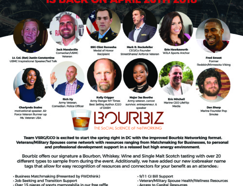 The lineup is set for DC Bourbiz April 26th! The Veteran & Military Spouse Resource Event