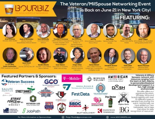 New York City Bourbiz Resource Event June 21 2018 for Veterans and Military Spouses